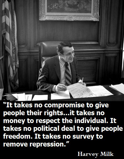 It takes no compromise to give people their rights