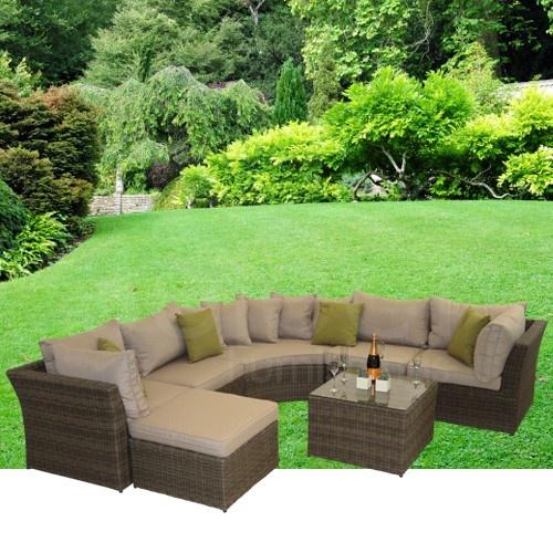 Barcelona Rattan Garden Furniture Corner Sofa Group: Maze Rattan - Winchester Modular Corner Group