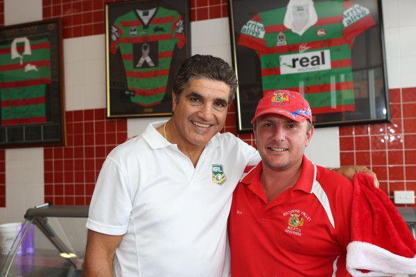 Mario Fenech with a fan