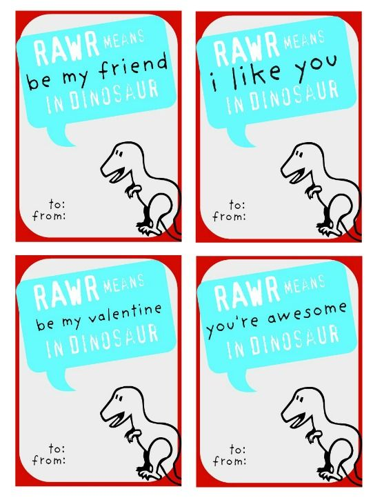 Just Another Day in Paradise: Dinosaur Valentine Printables