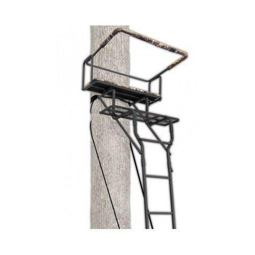 15' Deer Game Two Person Hunting Ladder Tree Stand Seat Steel Outdoor Shooting #15DeerGame