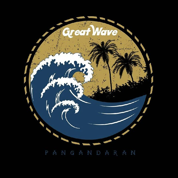 beautiful wave tees design