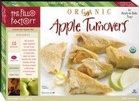 Organic Apple #Turnovers (12 oz.) - 12-piece #dessert. Luscious Granny Smith #apples seasoned with vanilla, cinnamon and a hint of nutmeg, wrapped in #Fillo to form the perfect Turnover. #Healthy: USDA #Organic, #Vegan, Yeast-Free, #Kosher OU-Parve, No Trans-Fat, No Saturated Fat, No Cholesterol. See nutrition or shop online at http://www.fillofactory.com/dessert.html.
