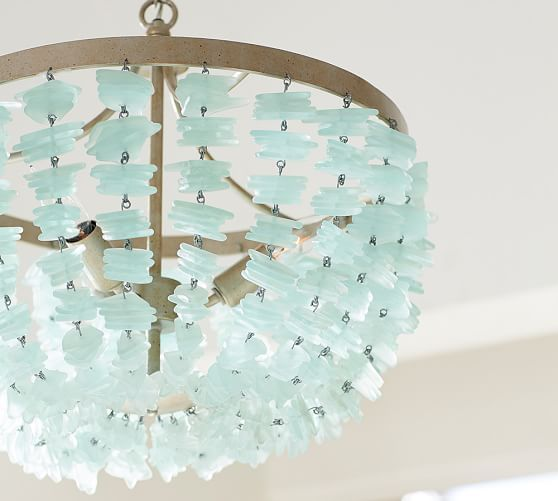 enya sea glass chandelier beach house use 2 over the dining table beach chandeliercapiz chandelierbeach lightingturquoise - Turquoise Chandelier Light