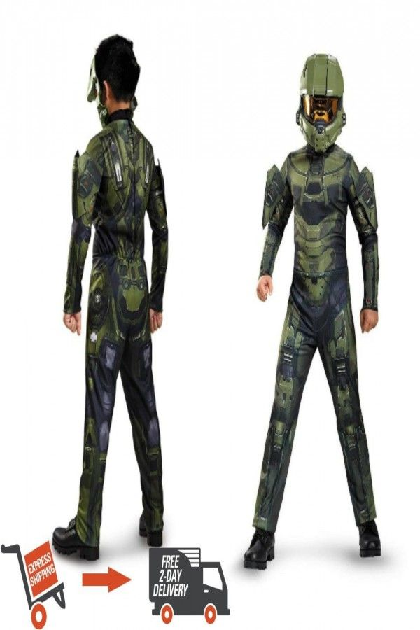 33 99 | NEW Master Chief Classic Muscle Child's Kids Costume
