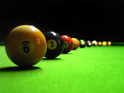 learn to play pool/billiards.