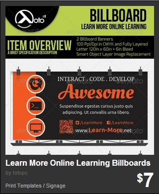 Learn More Online Learning Billboards for your online learning needs, video tutorial, coding, conferences or interactions in an interactive business.