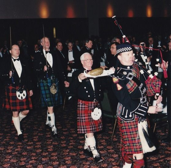 Piping in the Haggis on Burns Night, Scotland followed by an address to Haggis, followed by a toast to Haggis.  My choice of scotch on Burns Night is Glenfiddich 15 year old.