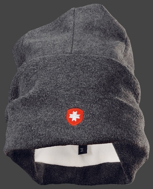 Fleecmütze mit Krempe in melange - Die Wellensteyn Fleece-Mütze hat einen breiten Umschlag und ist auf der Vorderseite aufwendig mit einem kleinen Wellensteyn Logo bestickt. Die gefütterte Mütze im klassischen Schnitt ist wegen der Wärmeisolierung auch für den Wintersport geeignet. Das verwendete Fleece ist formstabil und sehr angenehm zu tragen. Die Mütze in Gr. L ist für einen Kopfumfang von 60cm gearbeitet. Weitere erhältliche Farben: schwarz