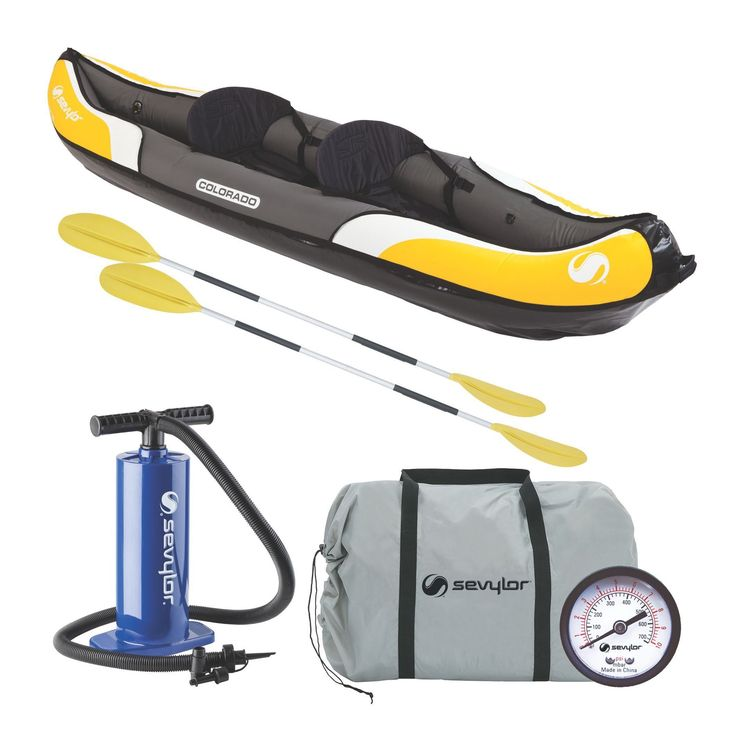 Coleman Sevylor Colorado Multicolor PVC 2-person Kayak Combo