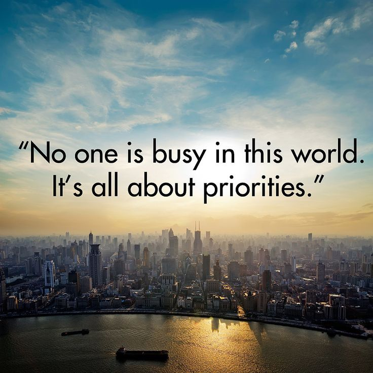 "Truth Quote: ""No one is busy in this world. It's all about"