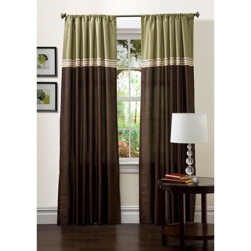 Green And Brown Curtains: 17 Best Images About Green & Brown Living Room On