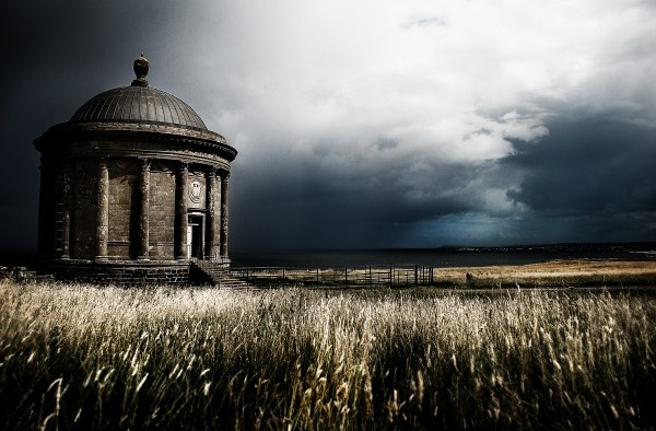 Mussenden Temple, iconic landmark in Northern Ireland near the Giant's Causeway