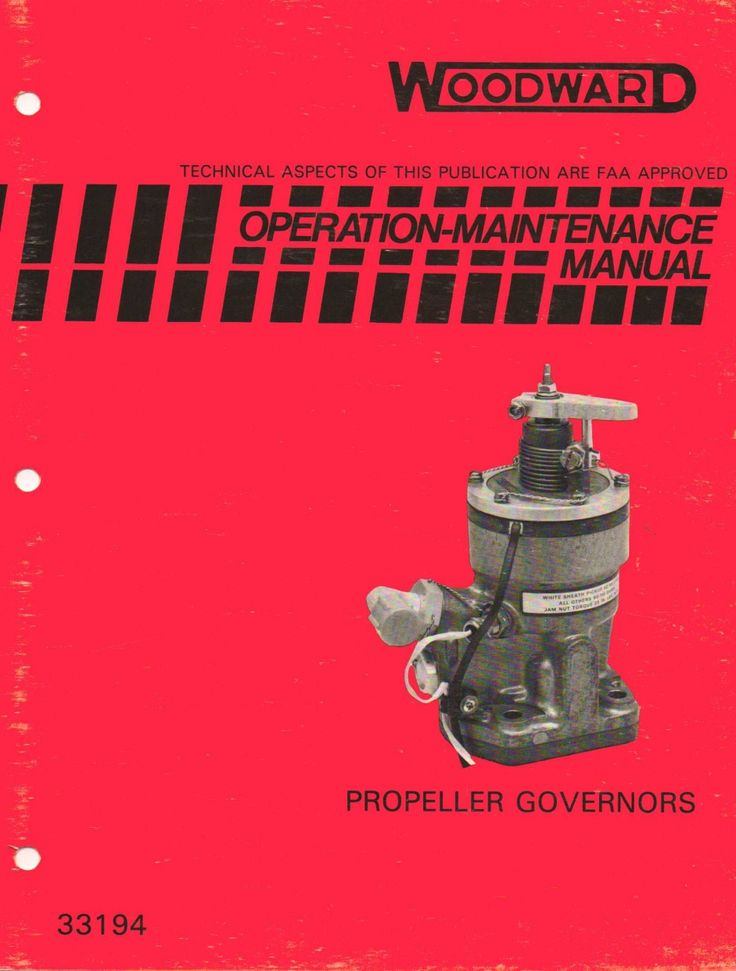 429 best Operation and maintenance manuals for hydraulic governors - operation manual