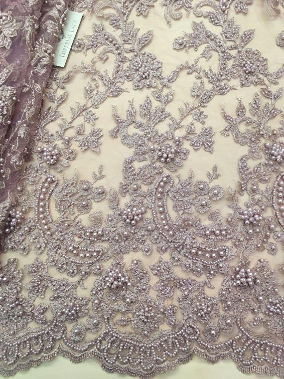 c85ecfbe22e30 3D lace fabric, Beaded Lace Fabric, French Lace, Wedding Lace, Pink ...