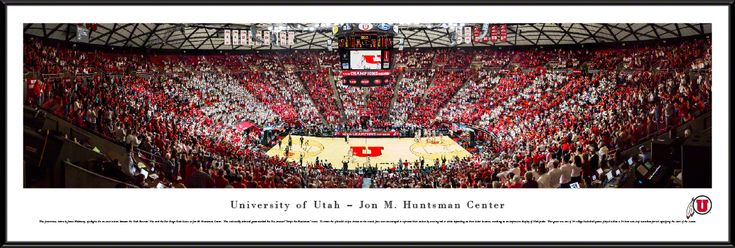 Utah Utes Basketball Panorama - Jon M. Huntsman Center Panoramic Picture - Standard Frame $99.95