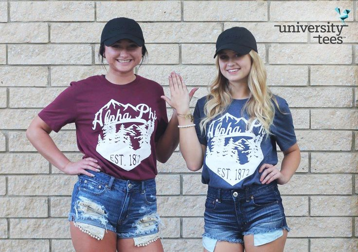 Lets go to the mountains | Alpha Phi | Made by University Tees | universitytees.com