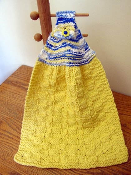 Knitted Dish Towel and Cloth Set