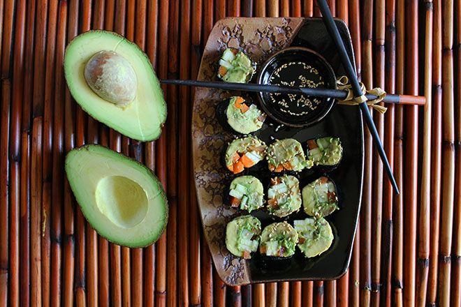 "Veggie ""Sushi"" Rolls | nutritionstripped.com"