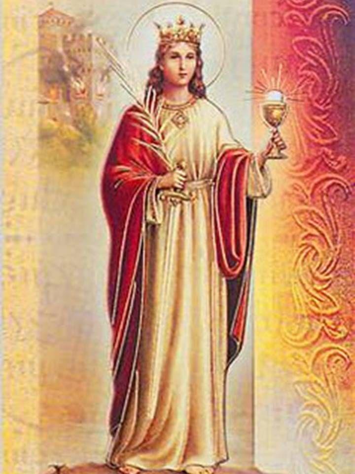 imagen de santa barbara bendita