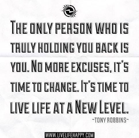 Tony Robbins quote.  Fear of failure and Fear of success will hold more people back than anything.