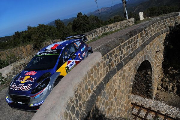 Sebastien Ogier of France and Julien Ingrassia of France compete in their M-Sport WRT Ford Fiesta WRC during Day Two of the WRC France on April 8, 2017 in Ajaccio, France.