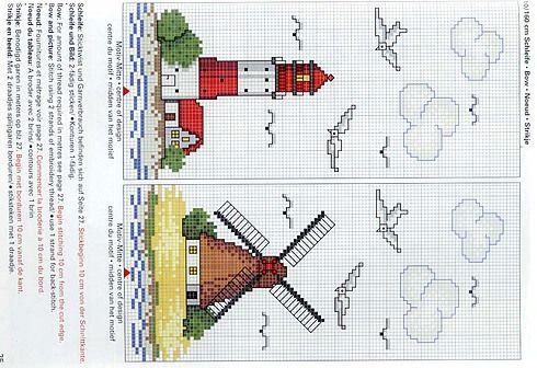 Schema punto croce Faro-e-mulino-2