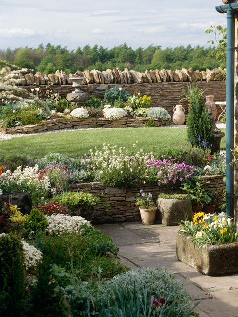 home decorating ideas home improvement cleaning organization tips rock wall gardensbackyard - Rock Wall Garden Designs