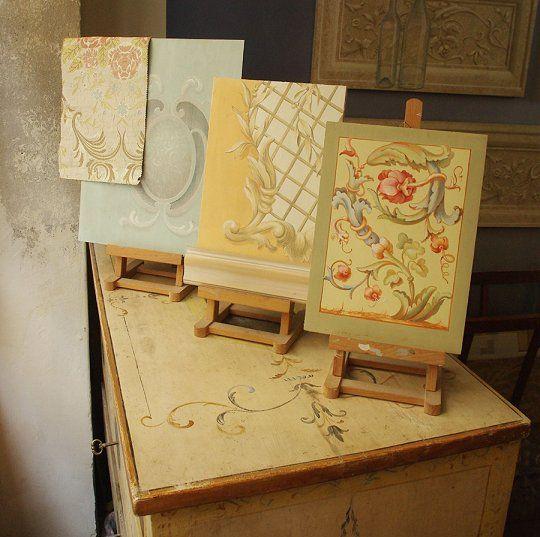 Decorazione dipinta, dorature e restauro per mobili e ambienti. studio in Florence: Florenceart.net Via della Scala 11  Third Floor  50123 Firenze Italia