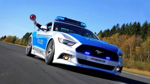 Germany's New Ford Mustang GT Police Car Looks Rad: But it won't be chasing speeders on the Autobahn ...