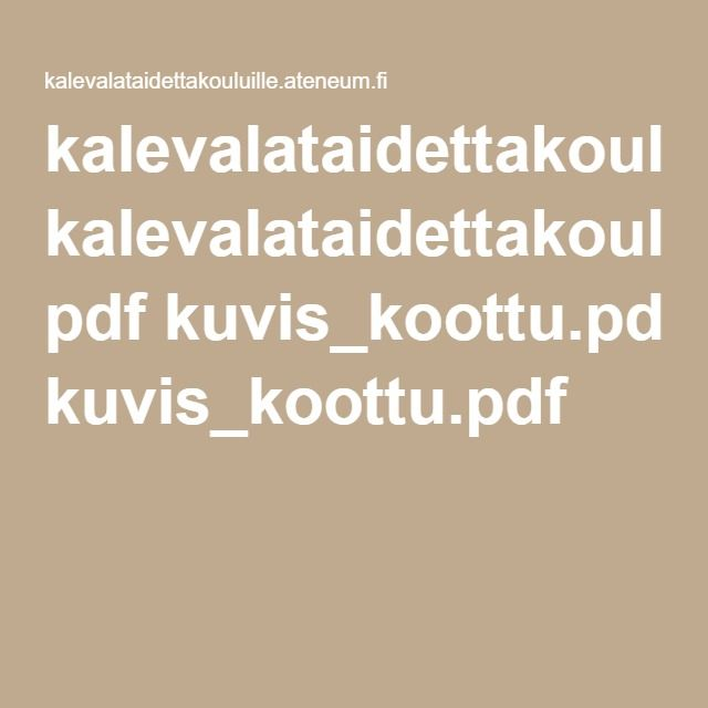 Ateneumin Kalevala-tehtävät
