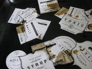 Vintage-Etiketten selbst herstellen Mit Kaffee Und vorläge zum ausdrucken