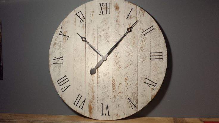 "36"" Large Rustic Wall Clock by YankeeWoodworks on Etsy https://www.etsy.com/listing/259241457/36-large-rustic-wall-clock"