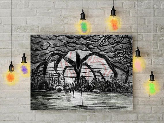 Stranger Things Poster Stranger Things Art Demogorgon Etsy Stranger Things Poster Stranger Things Art Stranger Things Halloween