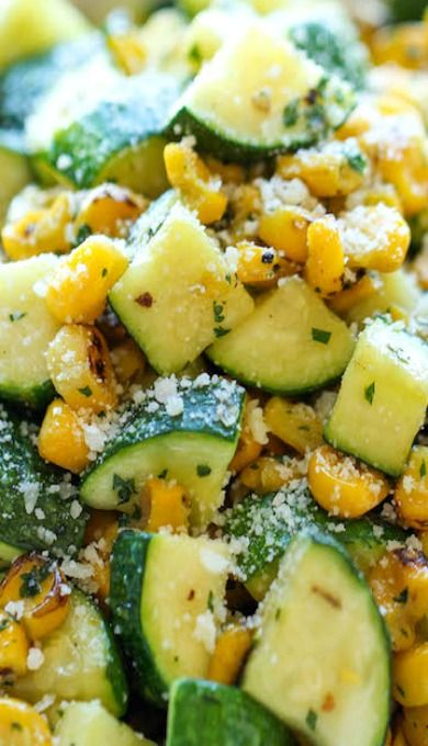Perfect Picnic Dish (hot or cold) - Parmesan Zucchini and Corn
