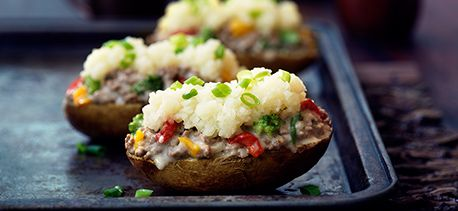 Stuffed-Potatoes No-Bake Shepherd's Pie ~ this is a great recipe!