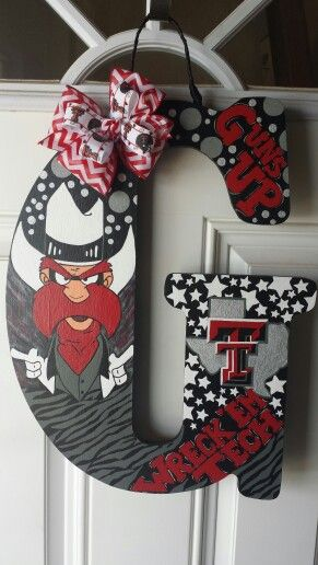 Feeling creative? Make your own hand painted Texas Tech monogram!