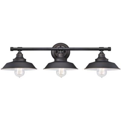 Westinghouse Iron Hill 3-Light Oil Rubbed Bronze Wall Fixture-6343400 - The Home Depot