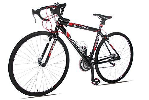 Merax 21-Speed 700C Aluminum Road Bike Racing Bicycle, 50CM Red