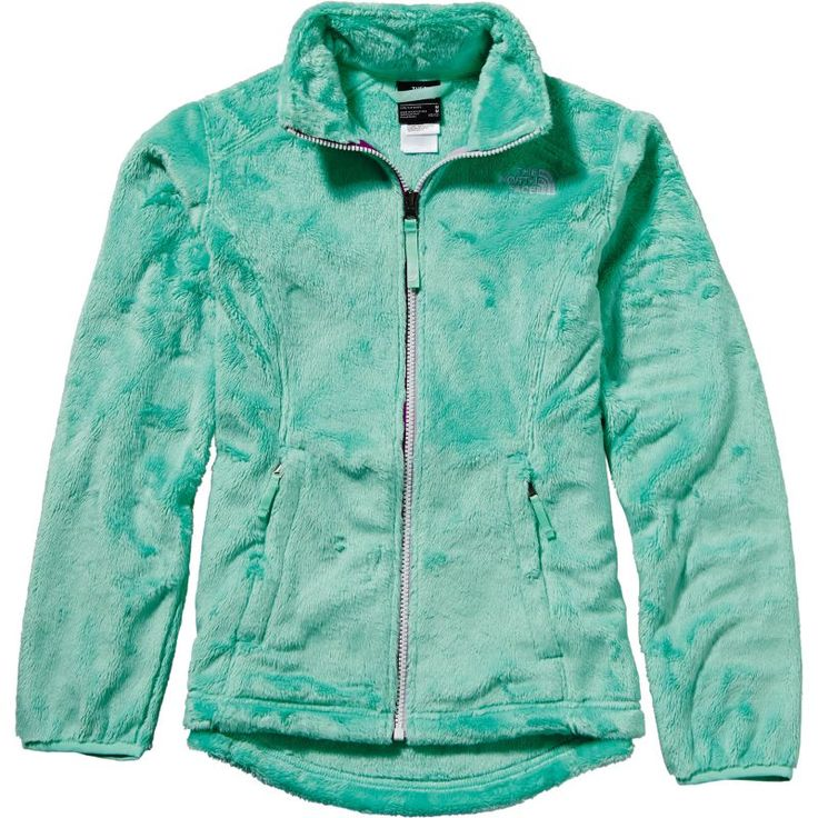 The North Face Girls' Osolita Fleece Jacket, Size: Large, Gray