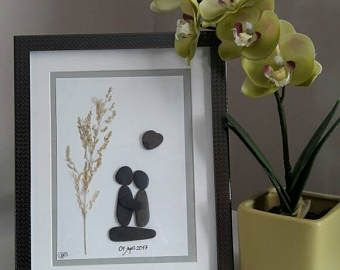 Personalised Wedding present/gift, Engagement, Anniversary present, Same sex wedding~ Couple Pebble Art~ Gay/Lesbian Wedding/Anniversary
