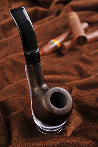 Pipa / Pipa para fumar tabaco hecha a mano con madera de ébano, Mod. 1371-01