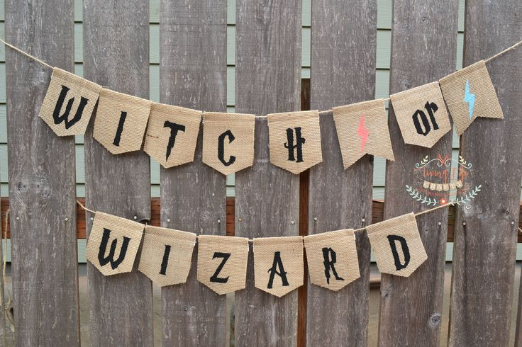 Harry Potter Banner, Witch or Wizard Banner, Gender Reveal Party, Baby Shower, Baby Announcement, Photo Prop, Nursery, HP, Gryffindor by LivingLifeCrafty on Etsy