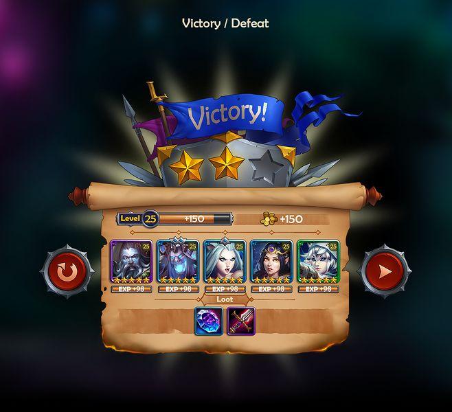League of Heroes UI ...