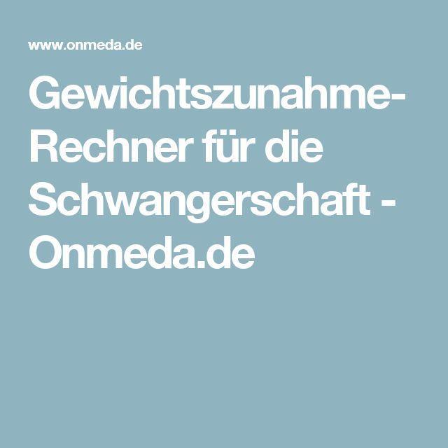 Gewichtszunahme-Rechner für die Schwangerschaft - Onmeda.de
