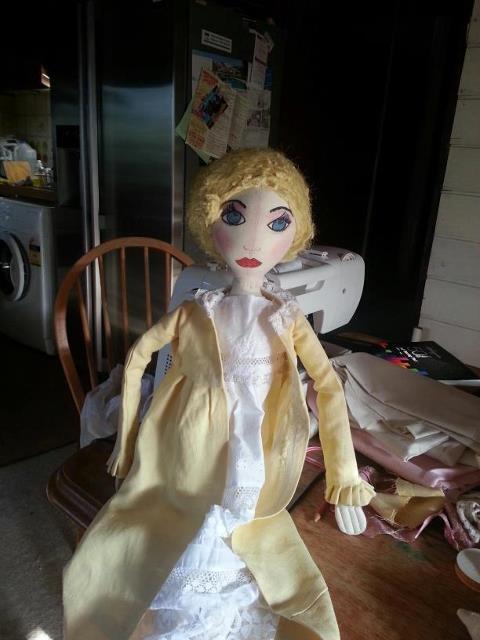 Emma edwardian art doll
