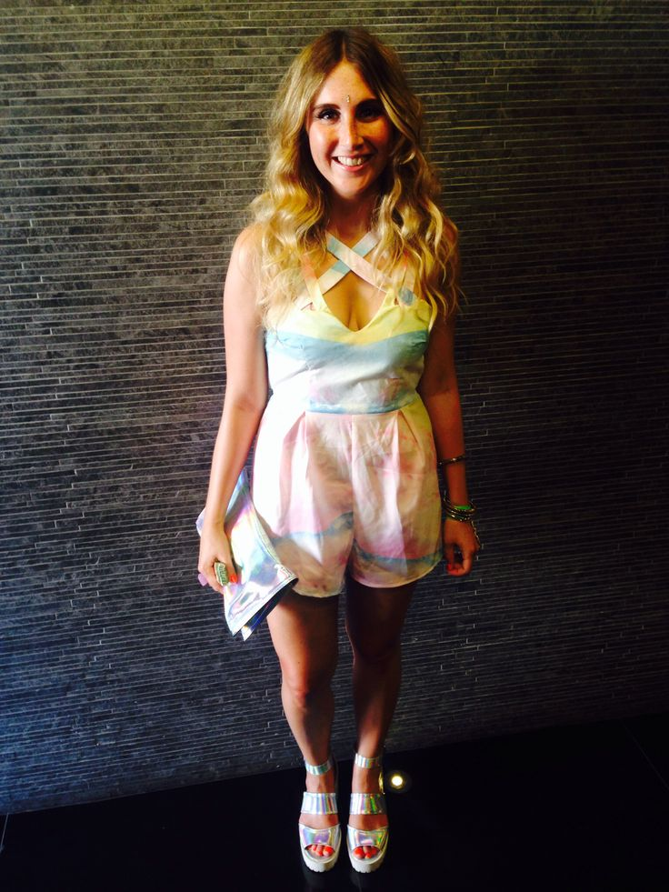 Lucy in the sky pastel playsuit