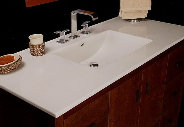 One Piece Bathroom Vanity Tops Home Ideas Bathroomvanitiestop