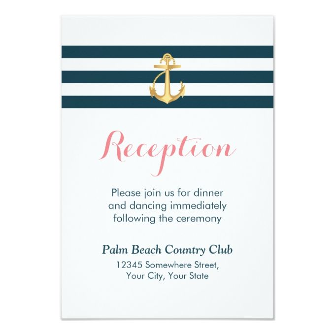 Reception Following Ceremony Wording: 2566 Best Nautical Wedding Invitations Images On Pinterest