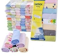 Mama | 8Pcs 22.9*22.9cm Thin Baby Kids Children Newborn Boy Girl Bath Towel Washcloth Wipe